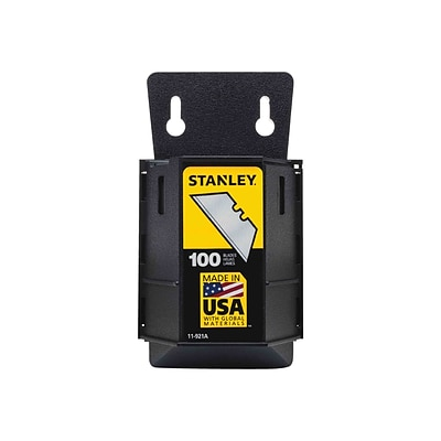Stanley 1992 Heavy-Duty Refill Blades With Dispenser, Gray, 100/Pack (11-921A)