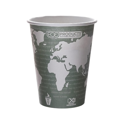 Eco-Products World Art Hot Cups, 12 oz., Gray/White, 1000/Carton (EP-BHC12-WA)