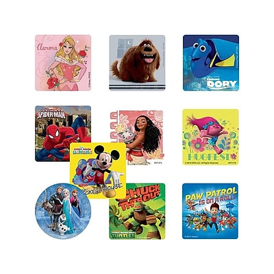 SmileMakers Stickers, Assorted Colors, 1000/Box (LI10)
