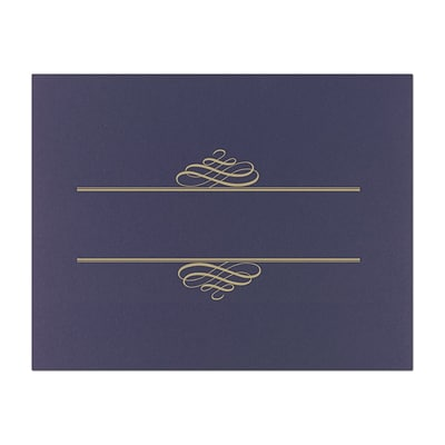 Great Papers Embossed Foil Certificate Covers, Navy, 5/Pack (903119)