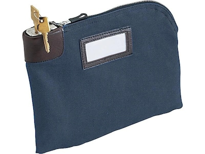 Image of MMF UltimaSeven Classic Locking Security Deposit Bag, Navy (2330981W08)