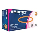 Ambitex L5201 Series Powder-Free Cream Latex Gloves, Medium, 100/Box (LMD5201)