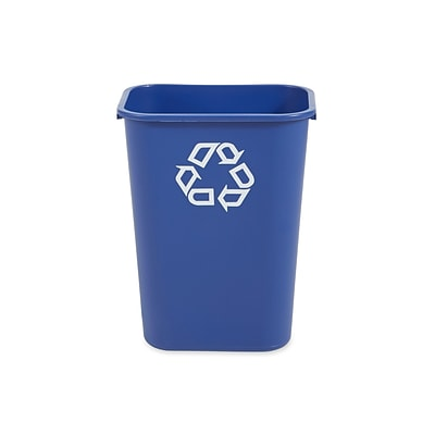 Rubbermaid Commercial Products Plastic Container, 10.25 Gal., Blue (FG295773BLUE)