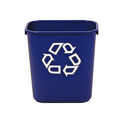 Rubbermaid Commercial Products Plastic Container, 2.7 Gal., Blue (FG295573BLUE)
