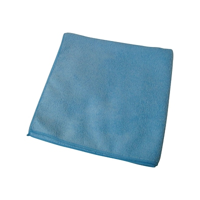 Impact Premium Weight Microfiber Dry Cloths, Blue, 12/Pack (LFK500)