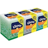 Kleenex Antiviral Facial Tissue, 3-Ply, White, 68 Sheets/Box, 3 Boxes/Pack (21286)