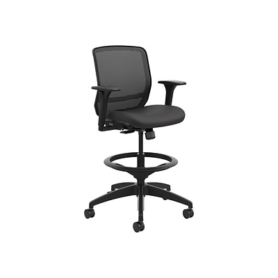 Awesome Hon Quotient Mesh Back Fabric Drafting Stool Black Honqtsmy1Acu10 Dailytribune Chair Design For Home Dailytribuneorg