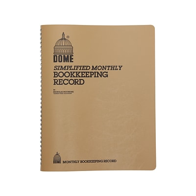 Dome Monthly Bookkeeping Record, Brown (612)