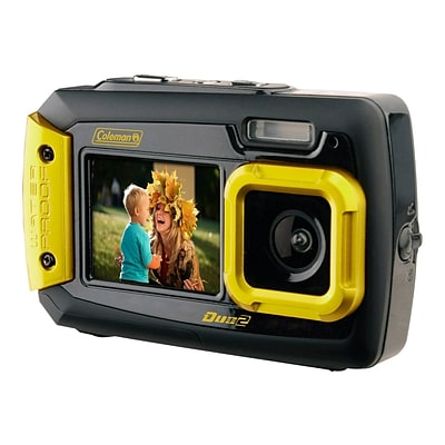 Coleman Duo2 2V9WP 20 Megapixels Point & Shoot Waterproof Camera, Yellow