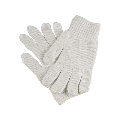 Ambitex Pro Cotton/Polyester Gloves, Natural White, 12 Pair/Pack (CTPS400LG/NLW)
