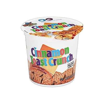General Mills Cinnamon Toast Crunch Cereal & Breakfast Foods, Cinnamon Sugar, 2 Oz., 6/Box (13897)