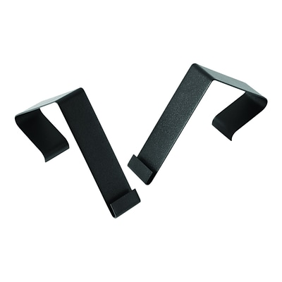 Quartet Matrix Metal Cubicle Hangers, Black 2/Set (MCH10)