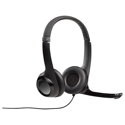 Logitech H390 Computer Headset, Over-the-Head, Black (981-000014)