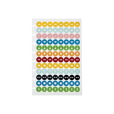 Staples Arc System Sticker Sheets, 5-1/2 x 8-1/2, Assorted, 4/Pack (29478)