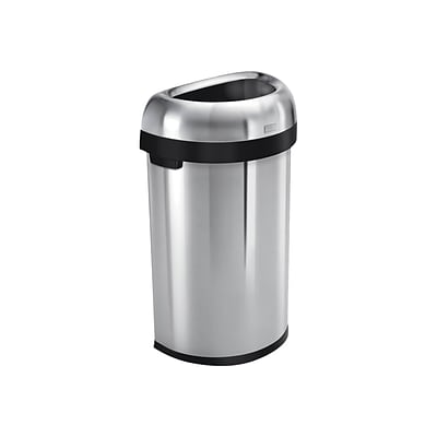 . simplehuman Indoor Trash Can w Lid  Brushed Stainless Steel  16 Gal    CW1468