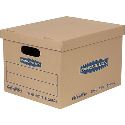 Bankers Box Smoothmove 16.25 x 12.5 x 10.5 Moving Boxes, Kraft, 10/Carton (7714203)