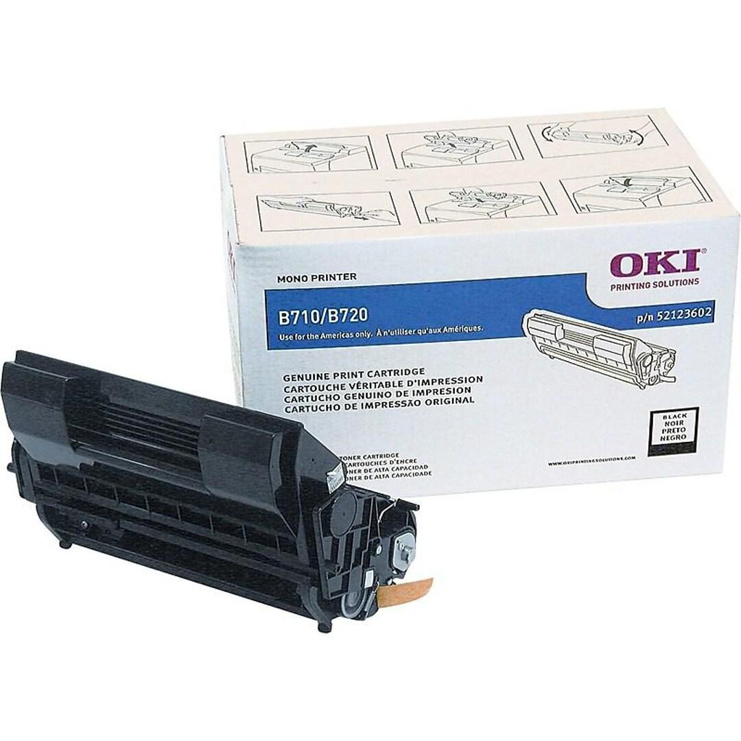 OKI 52123602 Black Toner Cartridge, Standard Yield