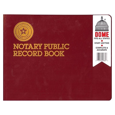 Dome Notary Public Record Book, Red (880)