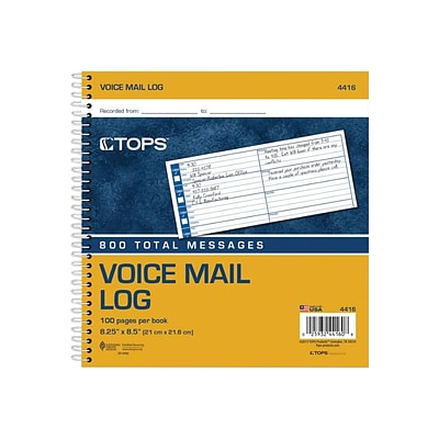 TOPS Message Pad, 8.25 x 8.5, White, 50 Sheets/Pad (4416)