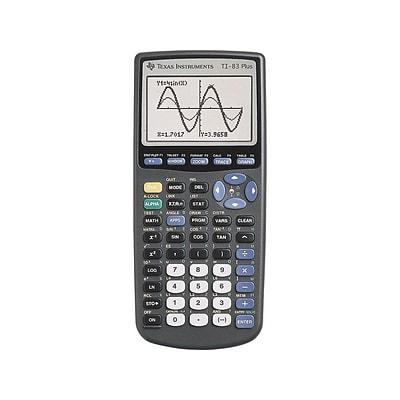 Texas Instruments TI 83 Plus 10 Digit Graphing Calculator Black