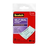 Scotch™ Self-Sealing Laminating Pouches, Business Card size, 25 Pouches (LS851G)