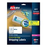 Avery Print-to-the-Edge Laser Shipping Labels, 2 x 3 3/4, White, 8/Sheet, 25 Sheets/Pack (6873)