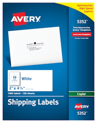 Avery Labels 10 Per Page Template from www.quill.com