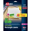 Avery High-Visibility Laser Address Labels, 1 x 2 5/8, Assorted Colors, 450 Labels Per Pack (5979)