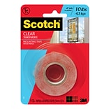 Scotch® Mounting Tape, 1 x 1.66 yds., Clear (410P)