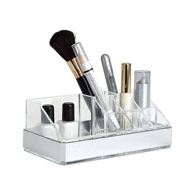 Simplify 9 Section Cosmetic and Jewelry Holder in Silver