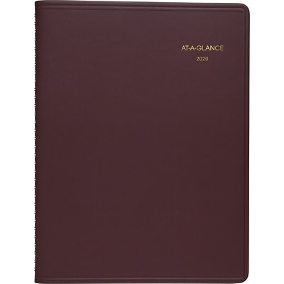 2020 AT-A-GLANCE 8-1/4 x 11 Weekly Appointment Book/Planner, Winestone (70-950-50-20)
