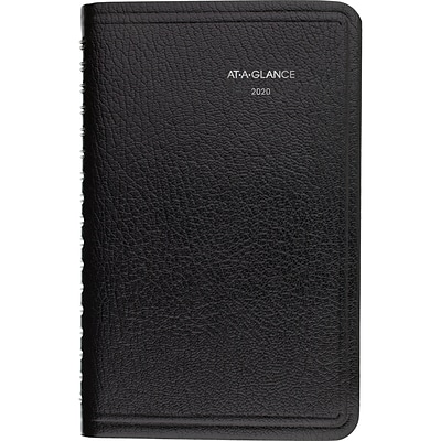 2020 AT-A-GLANCE 3-1/2 x 6 DayMinder Weekly Appointment Book, Black (G250-00-20)