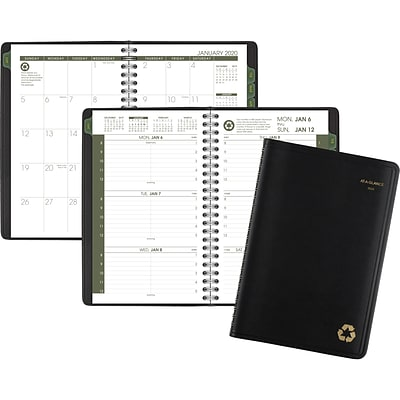 2020 AT-A-GLANCE  5 x 8 Recycled Weekly/Monthly Appointment Book, 12 Months, January Start, Black (70-100G-05-20)