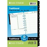 2020 Day-Timer® 5 1/2 x 8 1/2 Reference Two Page Per Day Refill, 12 Months, January Start, Loose-L