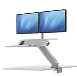 Lotus RT Sit-Stand Dual Monitor Workstation 35x24, White (8081801)