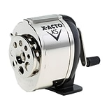 X-ACTO KS Manual Pencil Sharpener, Black/Silver (1031)