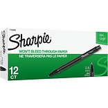 Sharpie Felt Pens, Fine Point, Black Ink, Dozen (1742663)