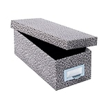Globe-Weis Index Card File Box, 1000-Card Capacity, Black Agate (GLW 95 BLA)