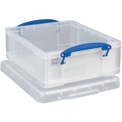Really Useful Box® 8.1 Liter Snap Lid Storage Bin, Clear, 5/Pack (8.1LC-PK5C)