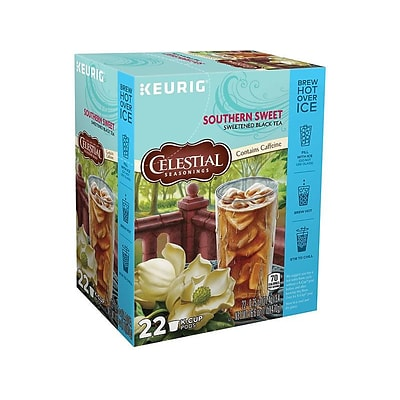 Celestial Seasonings Southern Sweet Iced Tea, Keurig K-Cup Pods, 22/Box (6825)