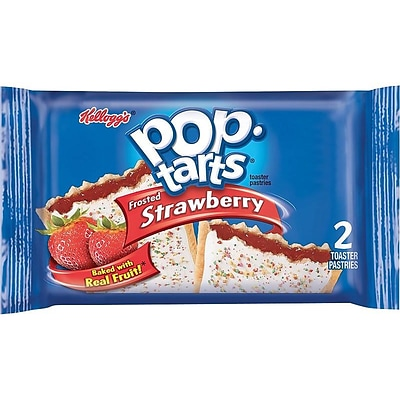Kellogs Pop-Tarts, Frosted Strawberry, 3.67 oz., 6/Box (31732)