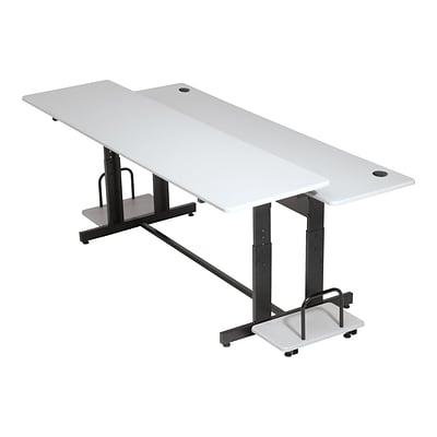 Balt Split Level 72 Quot W Adjustable Desk Steel Laminate
