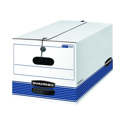 Bankers Box Stor/File Corrugated Boxes, Letter Size, White/Blue, 4/Carton (0070403)