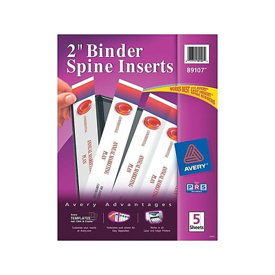 One Inch Binder Spine Template from www.quill.com