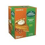 Green Mountain Pumpkin Spice Coffee, Keurig® K-Cup® Pods, Light Roast, 24/Box (6758)