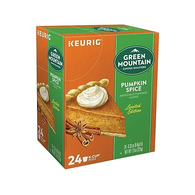 Green Mountain Coffee Roasters Pumpkin Spice Coffee, Keurig® K-Cup® Pods, Light Roast, 24/Box (6758)