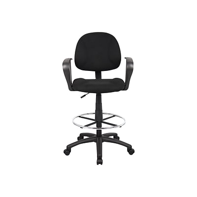 Boss Ergonomic Works Tweed Drafting Stool, Black (B1617-BK)