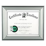 DAX Timeless Wood Certificate Frame, Charcoal (N15783NT)