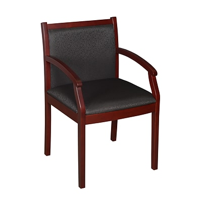 Regency Regent Side Chair, Mahogany/Black (9875MHBK)