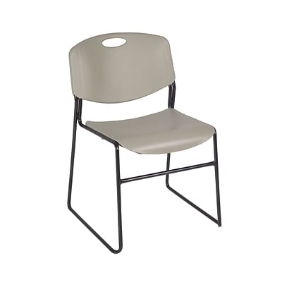 Regency Zeng Stack Chair (8 pack)- Grey (4400GY8PK)